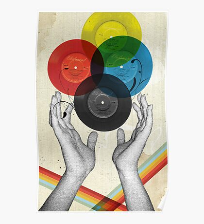 CMYK - the creation of retro Poster