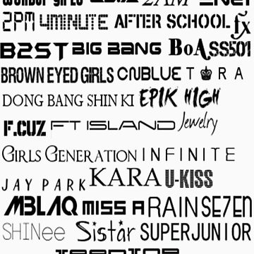 Kpop Groups by TotoroXkawaii