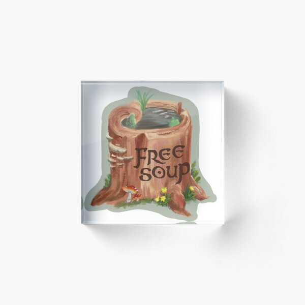 Forest Soup Acrylic Block