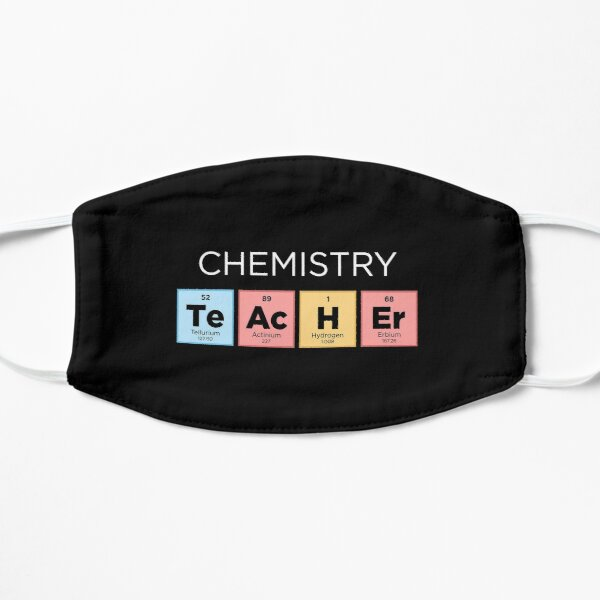 Chemistry Teacher Periodic Table - Color Flat Mask