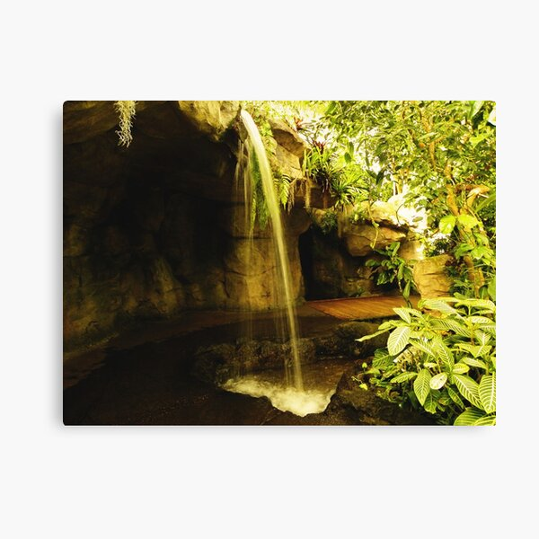 Waterfall in the garden Canvas Print