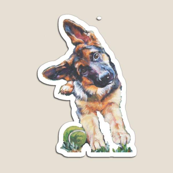 German Shepherd Fine Art Painting Magnet
