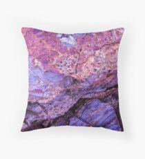 Purple Rock Throw Pillow