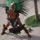 Indian Drummer with Snail Shells - Baterista con Concha de Caracol by PtoVallartaMex
