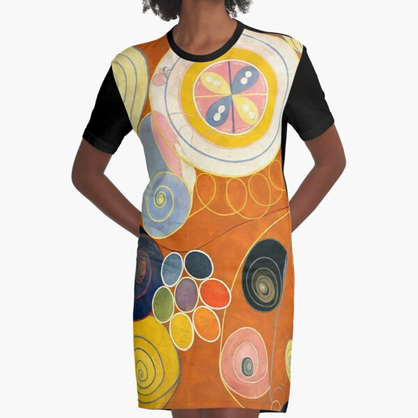 """Hilma af Klint """"The Ten Largest, No. 03, Youth, Group IV"""" Graphic T-Shirt Dress"""