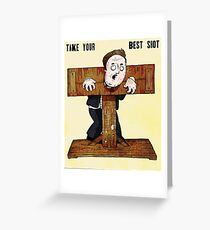 Cameron In The Stocks Greeting Card