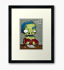 Trying To Lern! Framed Print