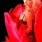 Brooke in Red Tulips by Swede