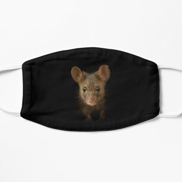 George the mouse in a log pile House art black background  Mask