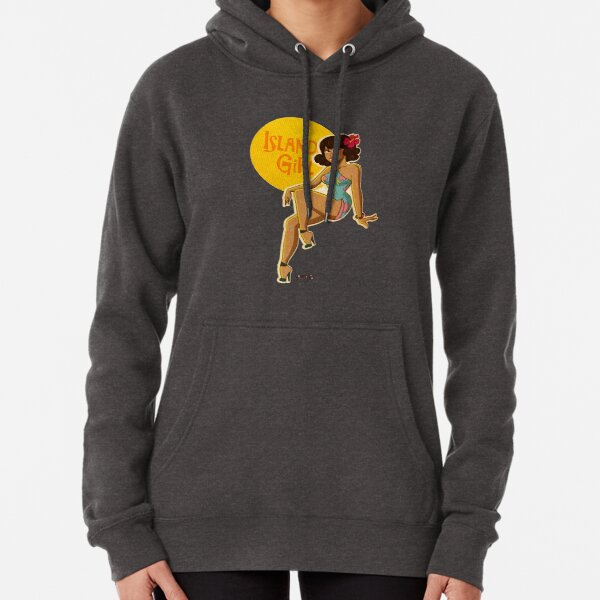 Island Girl Pin up Pullover Hoodie