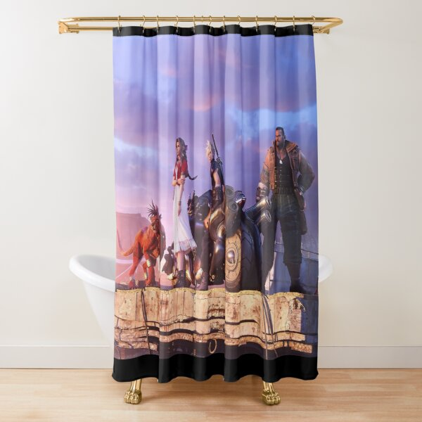 FFVII Cloud & Cast Shower Curtain
