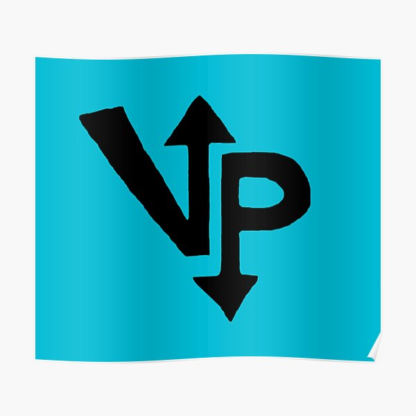 Vengeful Panini Logo Design (Blue) Poster