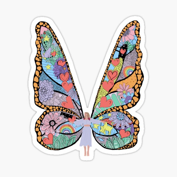 butterfly mural Sticker