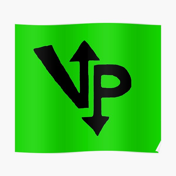 Vengeful Panini Logo Design (Green) Poster