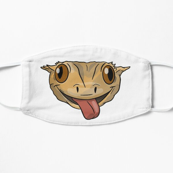 Crested Gecko Yellow Flat Mask