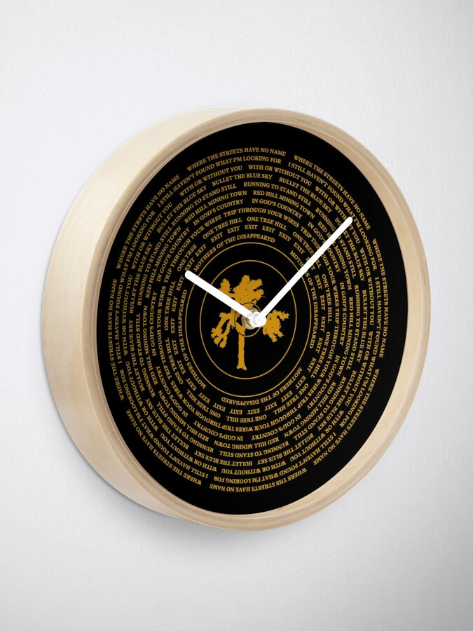Alternate view of Joshua Tree Vinyl Clock