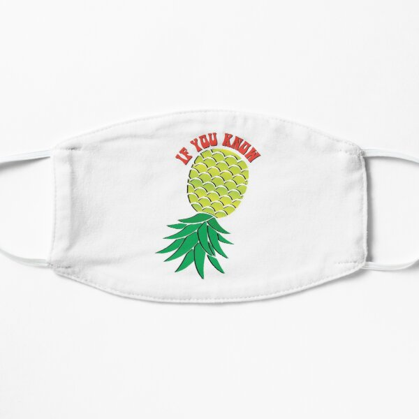 Upside Down Pineapple Swinger Flat Mask
