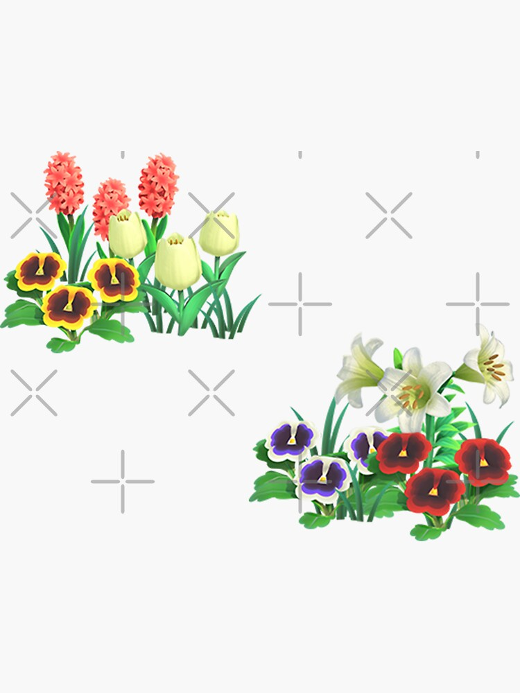 Animal Crossing Flower Stickers by emhues