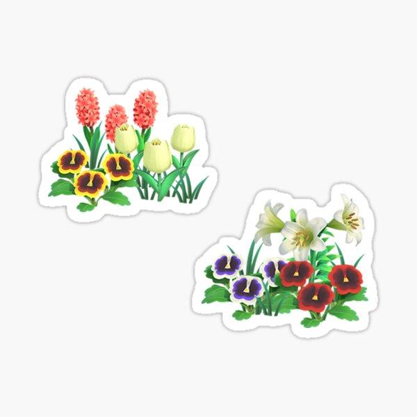 Animal Crossing Flower Stickers Sticker