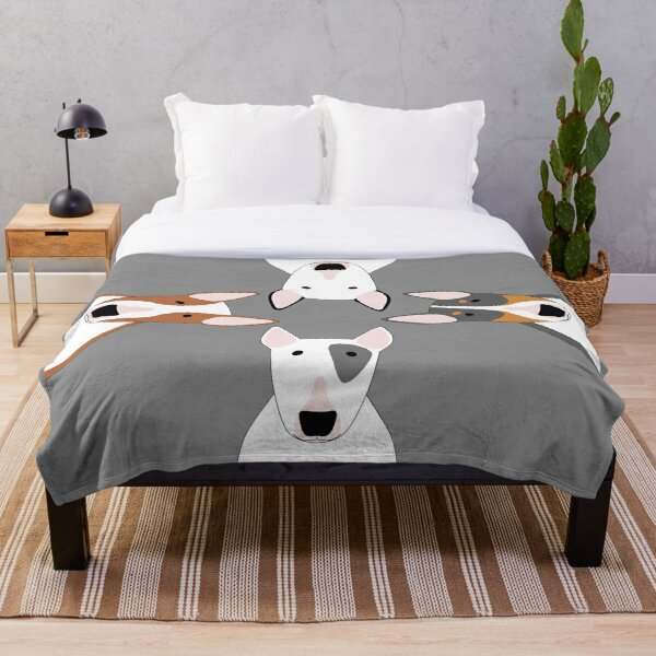 Bull Terrier Squad Throw Blanket