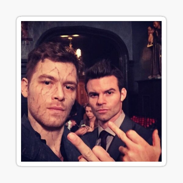 Klaus and Elijah Mikaelson Sticker