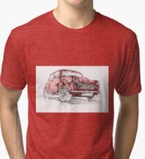 Classic Mini Cooper Car Tri-blend T-Shirt