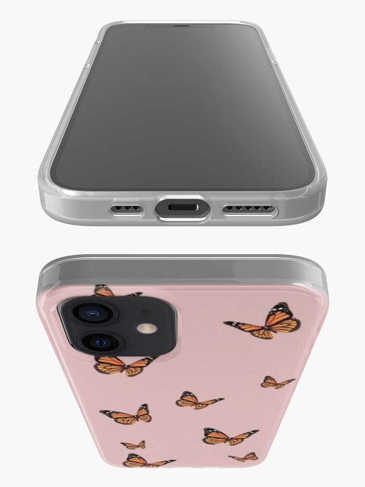 Alternate view of Monarch Butterflies with Pink Background iPhone Case & Cover