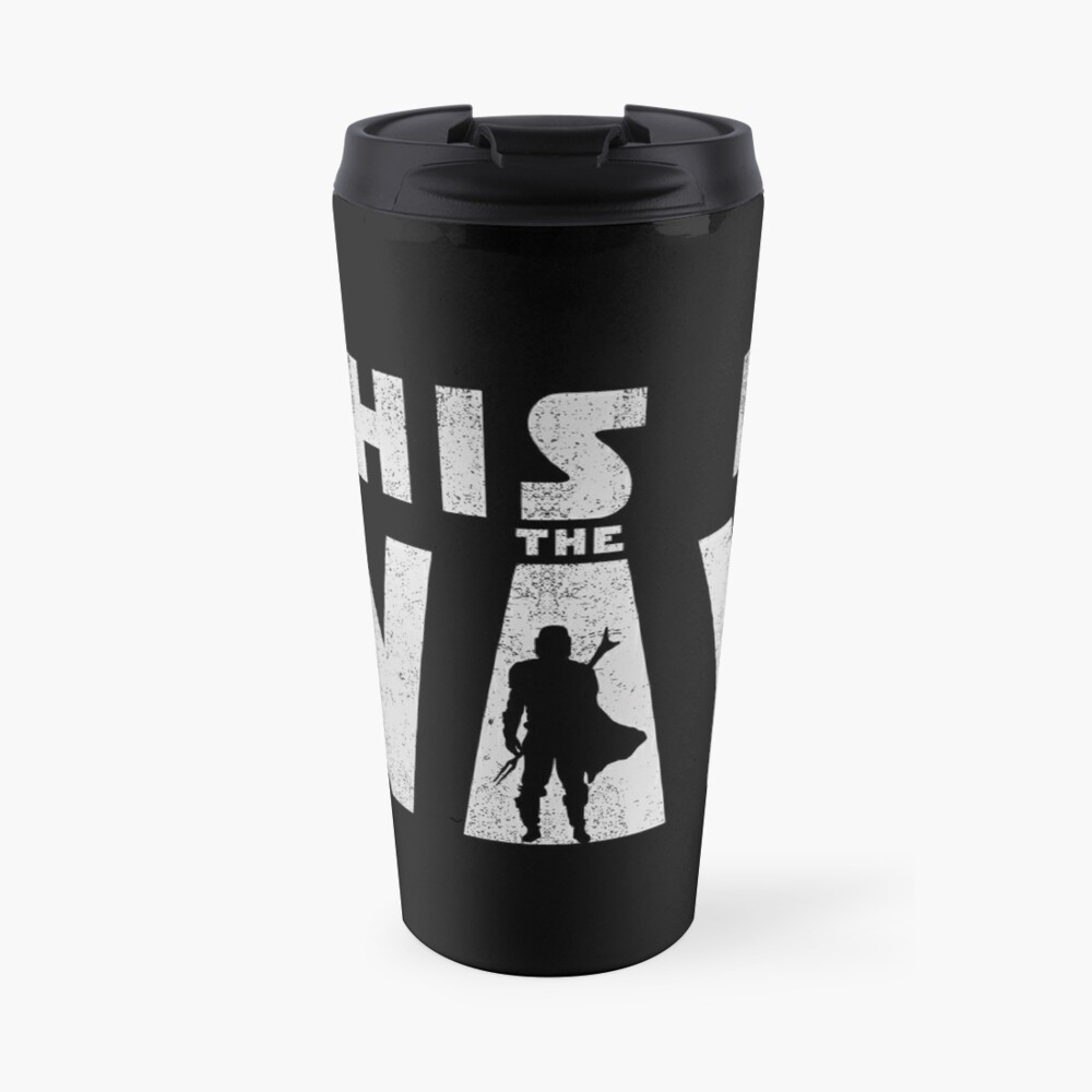 this is the way mando retro grey Travel Mug