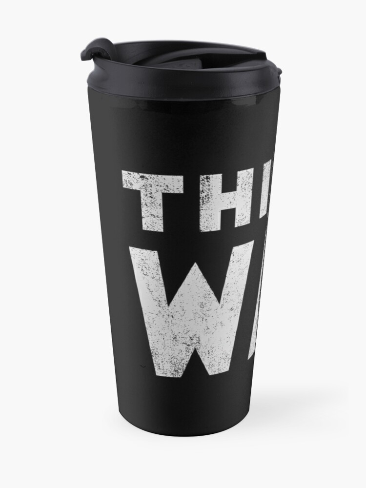 Alternate view of this is the way mando retro grey Travel Mug