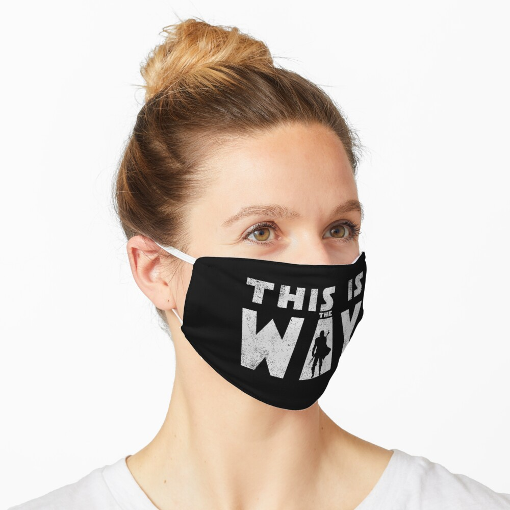 this is the way mando retro grey Mask