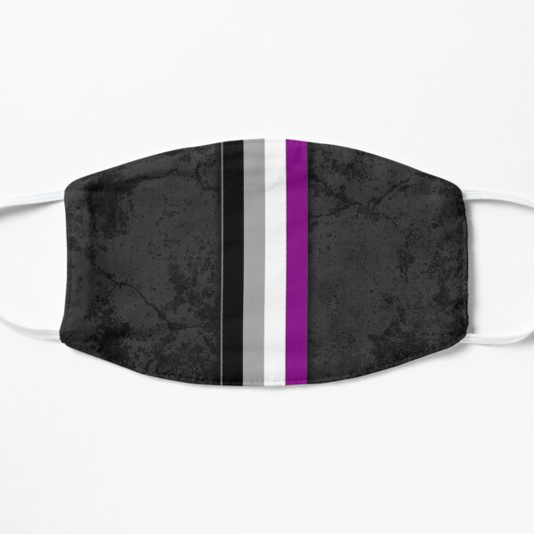 Distressed Asexual Pride Flag Stripe Mask