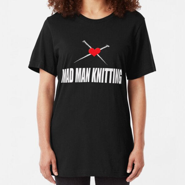 Mad Man Knitting Slim Fit T-Shirt