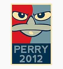 Perry the Platypus for President 2012 Photographic Print