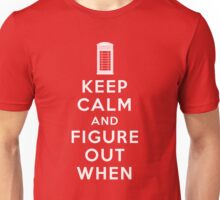 Keep Calm and Figure Out When Unisex T-Shirt