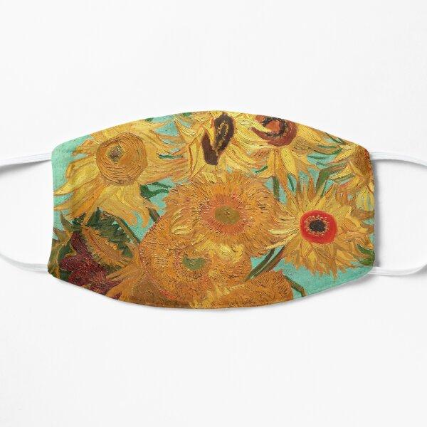 Vincent Van Gogh Twelve Sunflowers In A Vase Flat Mask
