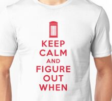 Keep Calm and Figure Out When (light t-shirt) Unisex T-Shirt