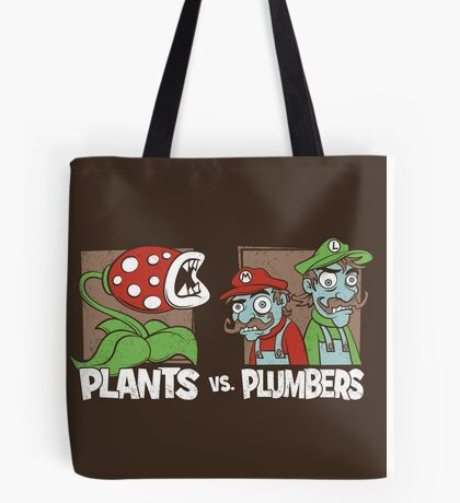Plants Vs Plumbers Tote Bag