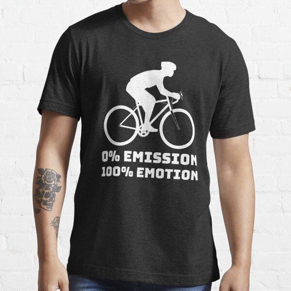 0% emission 100% emotion Fahrrad CO2 Klimastreik Essential T-Shirt