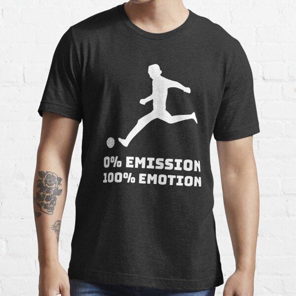 Fussball 0% Emission 100% Emotion Klima Streik Öko Essential T-Shirt