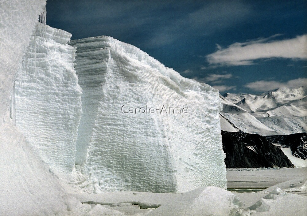 Tabular Icebergs and Fast Ice by Carole-Anne
