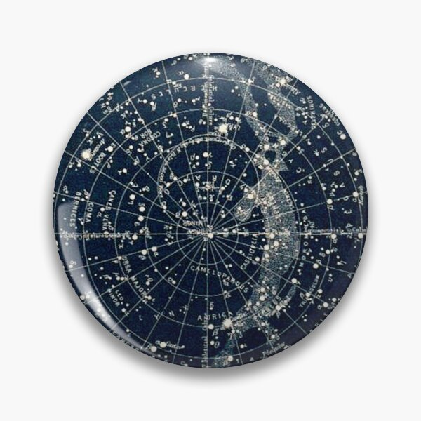 THE STAR CONSTELLATIONS : Vintage 1900 Galaxy Print Pin