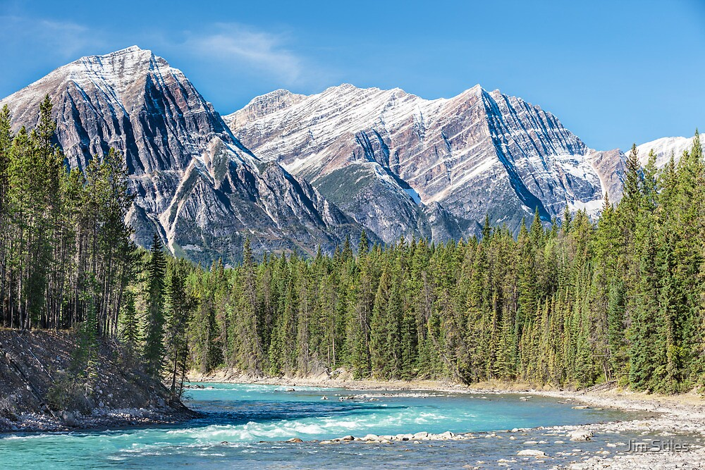 Athabasca River and the Canadian Rockies by Jim Stiles