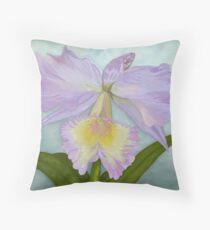 Cattelaya Orchid Throw Pillow