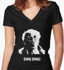 DING DING! Women's Fitted V-Neck T-Shirt