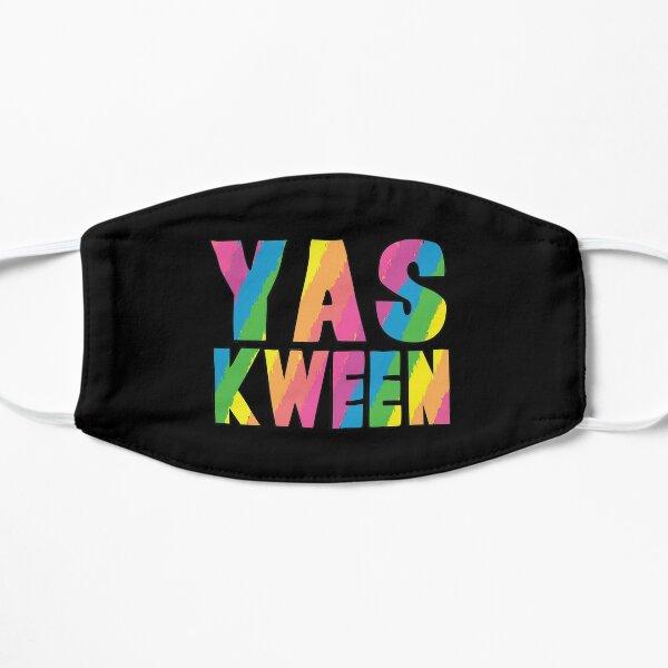 Yas Kween Queen Rainbow Letters Flat Mask