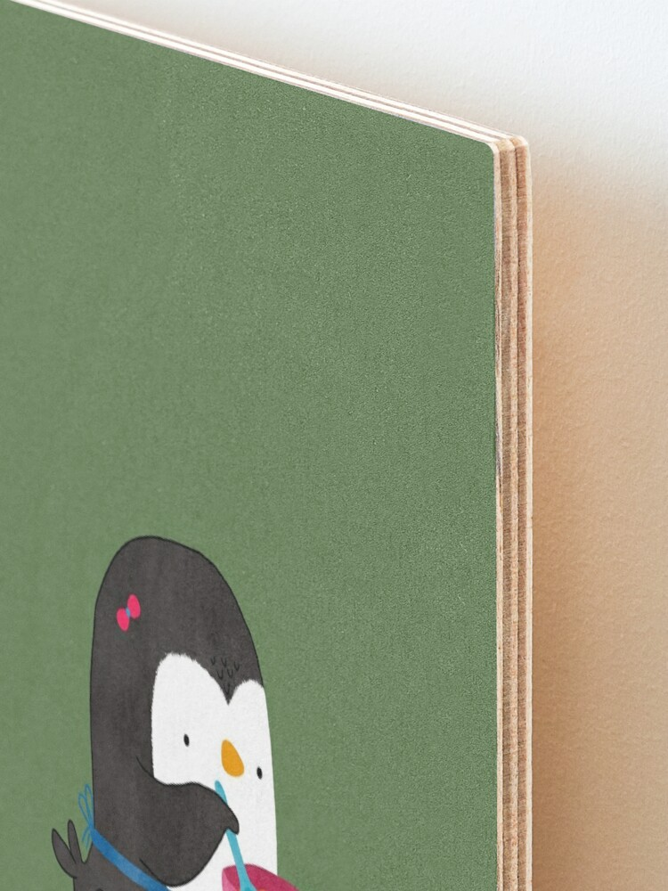 Alternate view of Daisy Penguin cooking Mounted Print