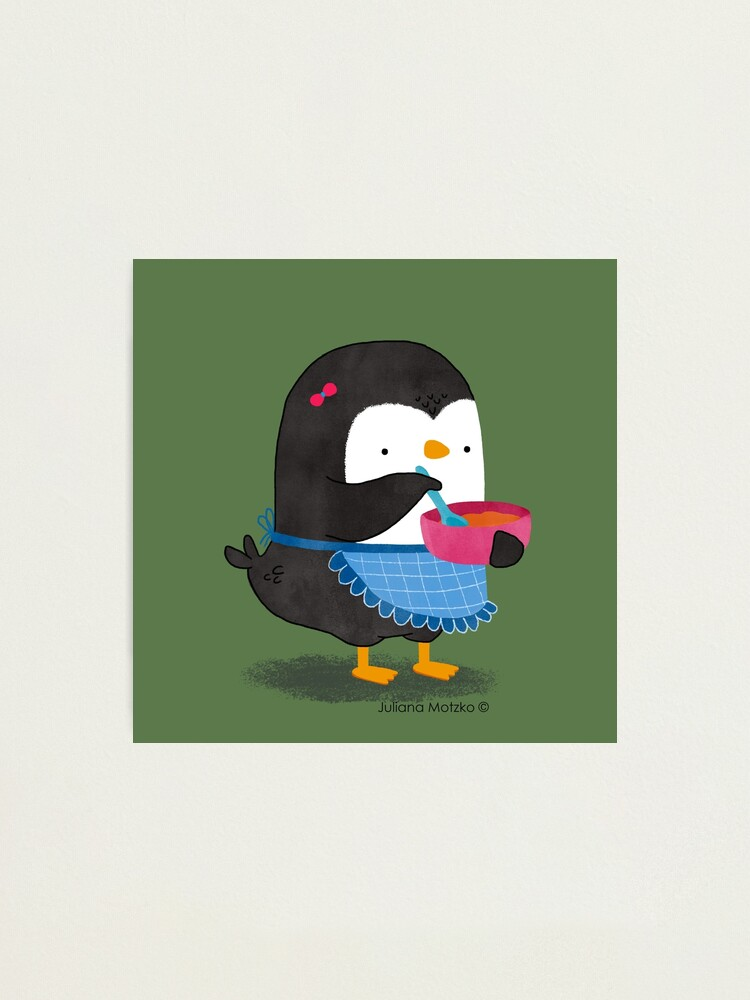 Alternate view of Daisy Penguin cooking Photographic Print