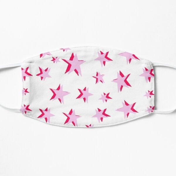 pink stars Flat Mask