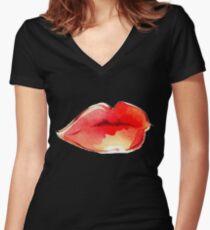 Luscious Lips Shirt mit V-Ausschnitt