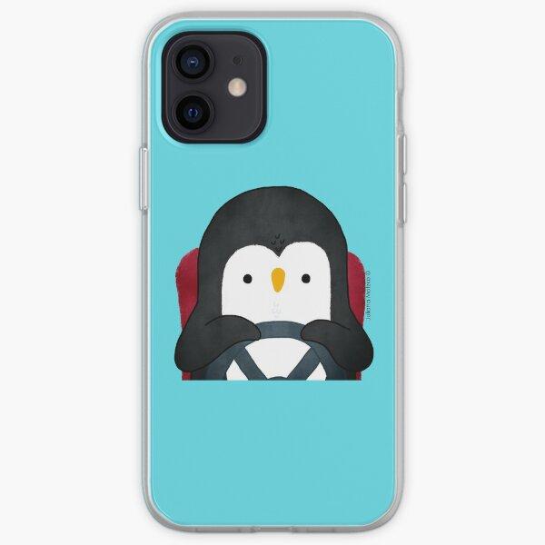 Penguin Driving iPhone Soft Case